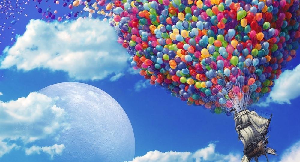 Открытки с днем рождения с облаками