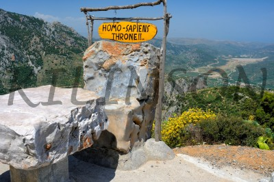 throne Crete  Greece  mountains